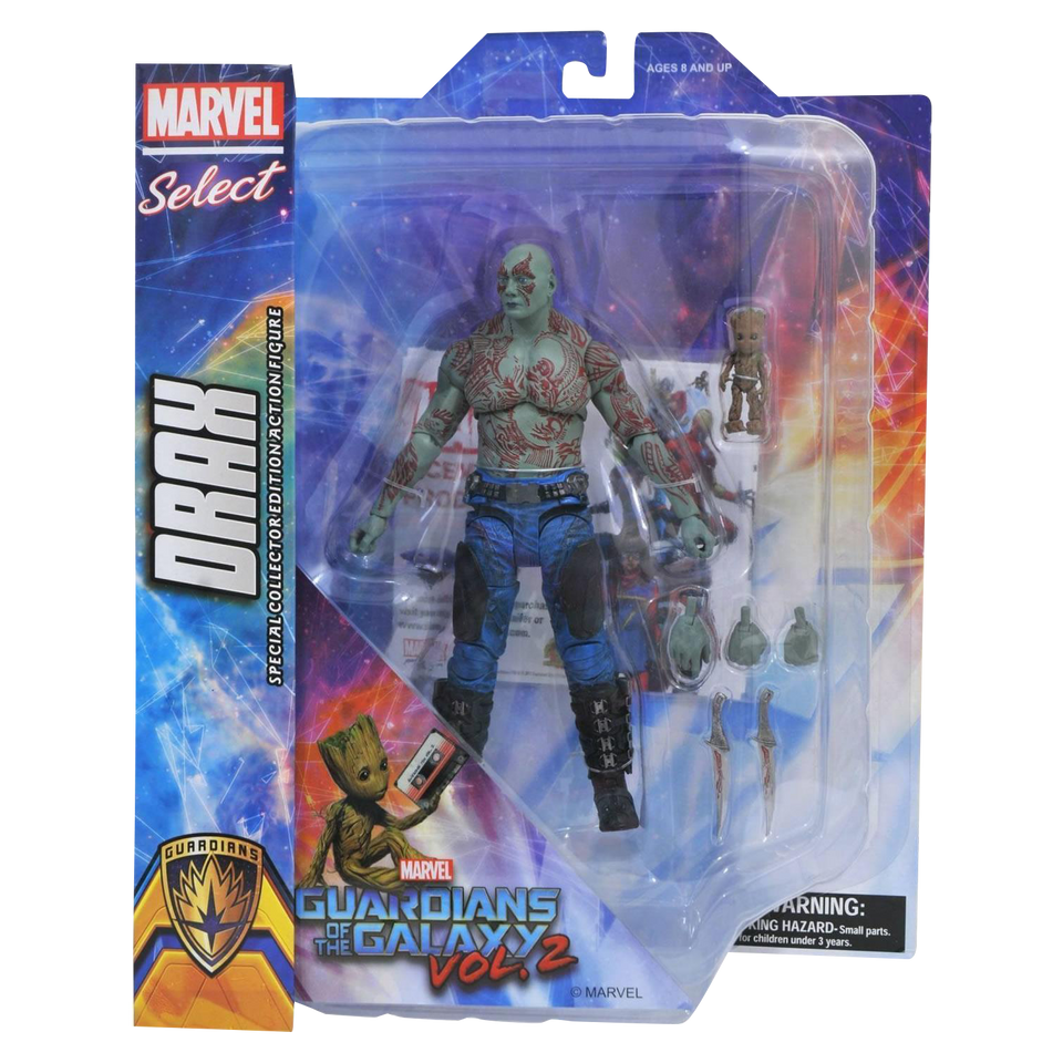 Diamond Select Marvel Guardians of Galaxy 2 Drax & Groot Baby Action Figures