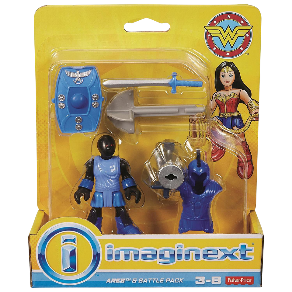 Fisher-Price Imaginext Wonder Woman Ares & Battle Action Figure Pack