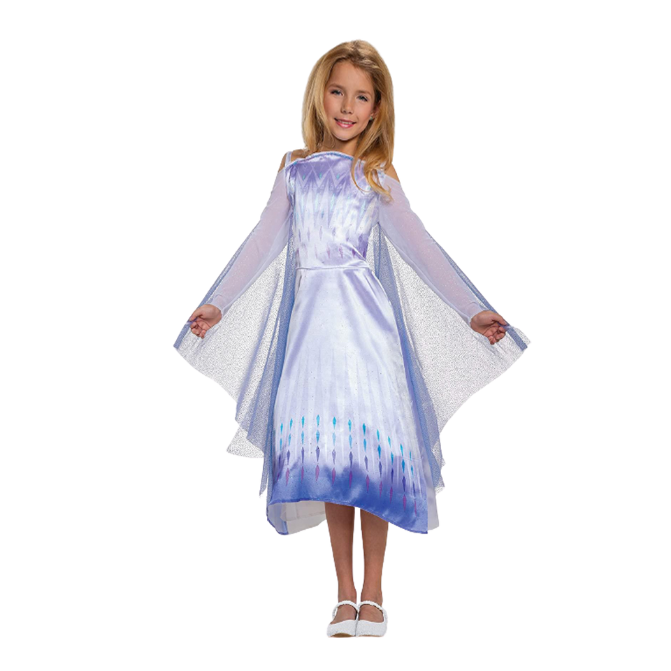 Disney Frozen 2 Elsa Snow Queen Girls Dress Cape Costume - Medium (7/8)
