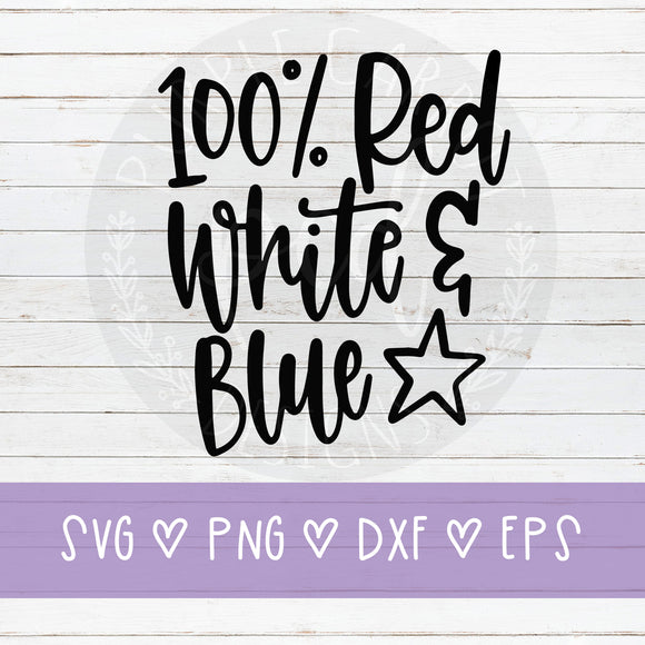 100% Red White and Blue SVG