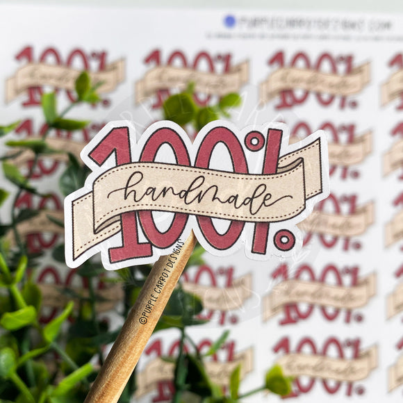 100% Handmade Sticker©