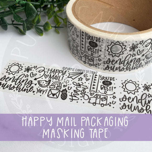 Happy Mail Packing Tape© - NEW DESIGN