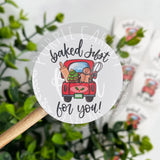Baked Just For You Roll of Stickers
