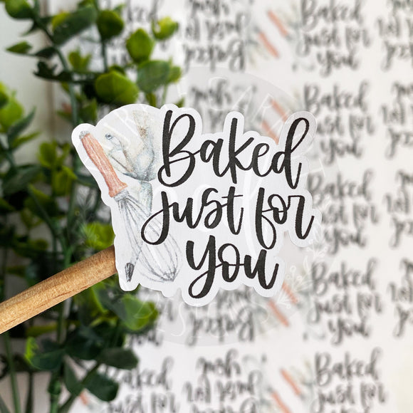 Whisk and Piping Bag Baking Sticker