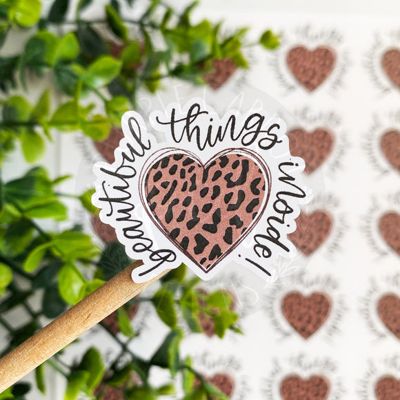 Cheetah Beautiful Things Inside Sticker