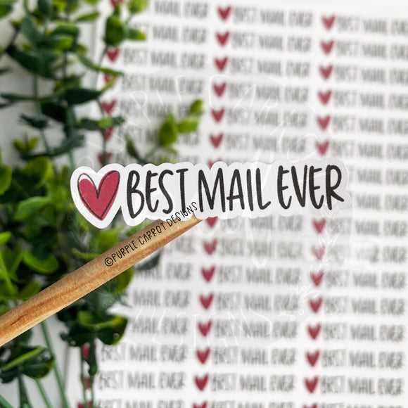 Best Mail Ever Heart Sticker©