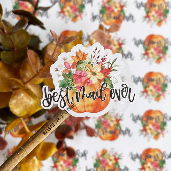 Best Mail Ever Pumpkin Flowers Sticker©