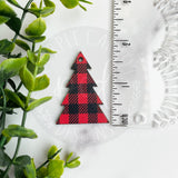 Buffalo Plaid Print Christmas Earrings
