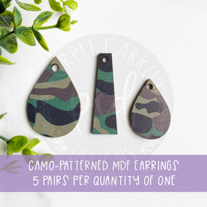 Camouflage Print Earrings