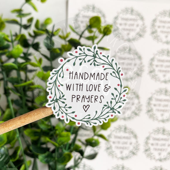 Christmas Love and Prayers Sticker