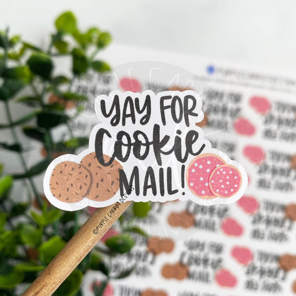 Yay for Cookie Mail with Cookies Sticker©