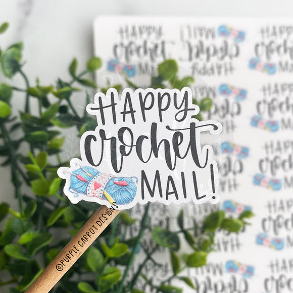 Happy Crochet Mail Sticker