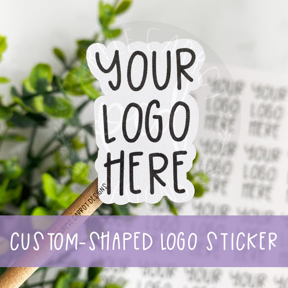 Custom-Shaped Logo Sticker