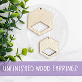 Macrame Wooden Earring Blanks