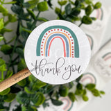 Thank You Rainbow Roll of Stickers