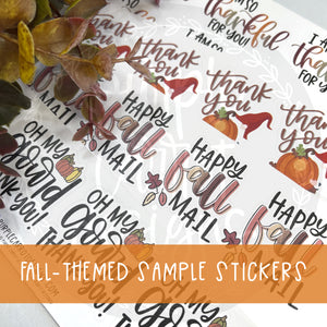 Fall - Themed Sample Stickers