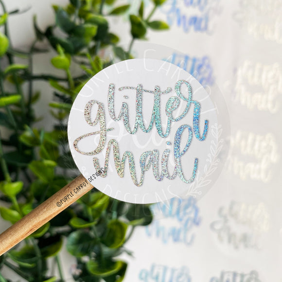 Foiled Glitter Mail Sticker© - Small Sparkles