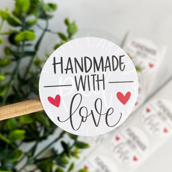 Handmade With Love Roll of Stickers