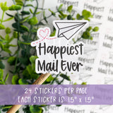 Happiest Mail Ever Paper Airplane Sticker©