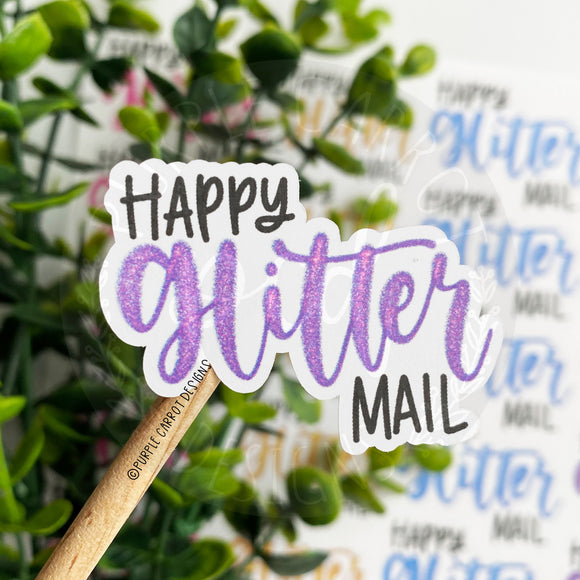 Happy Glitter Mail Sticker©