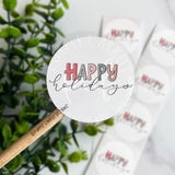Happy Holidays © Roll of Stickers