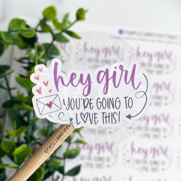 New Hey Girl Sticker©