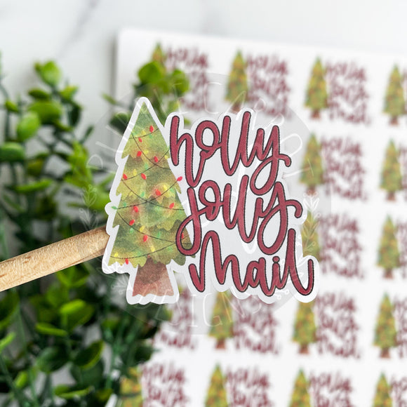 Holly Jolly Mail Sticker