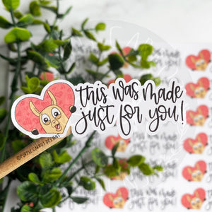 Llama Made Just For You Sticker