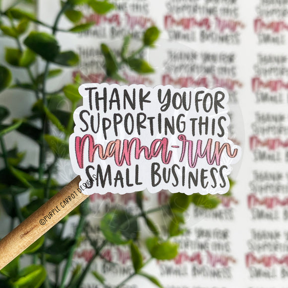 Mama-Run Small Business Sticker™