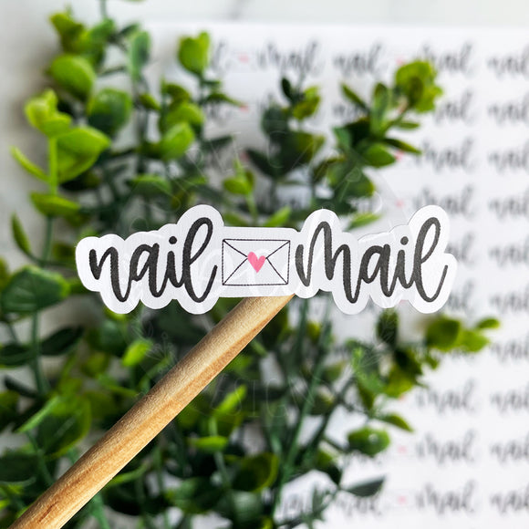 Nail Mail Envelope Sticker