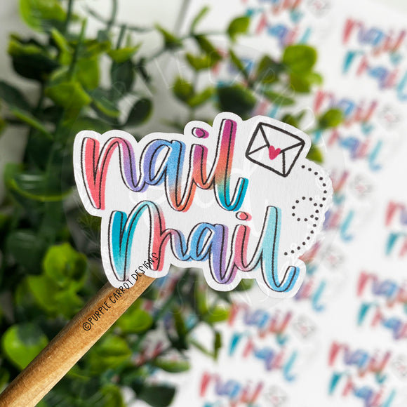 Colorful Nail Mail Sticker©