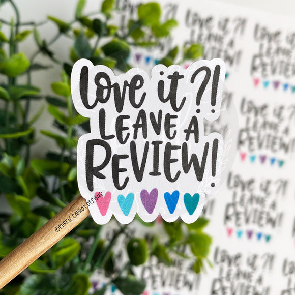 Leave A Review Sticker©