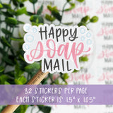 Happy Soap Mail Sticker©