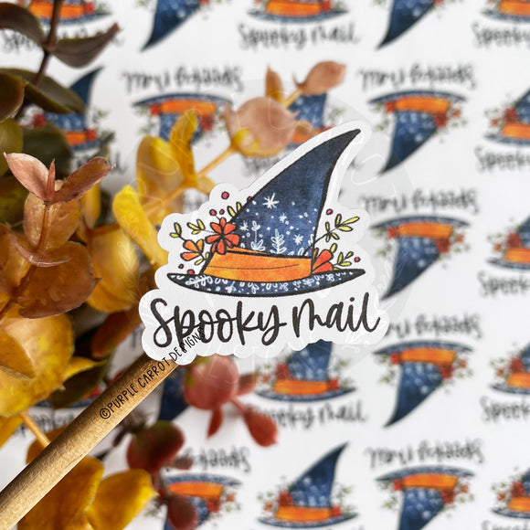Spooky Mail Witch Hat Sticker©