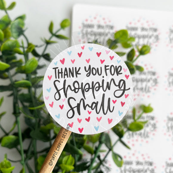 Thank You For Shopping Small Heart© Sticker