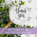 Thank You Moon and Stars Sticker©
