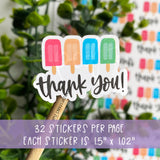 Thank You Popsicle Sticker©