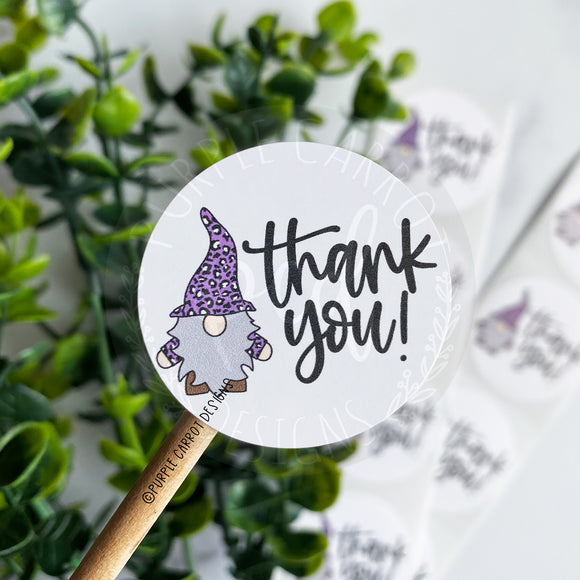 Thank You Purple Gnome Sticker©