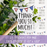 Thank You So Much American Pennant Sticker©