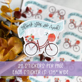 Thank You Fall Bike Sticker