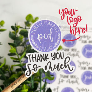 Custom Thank You So Much Logo Sticker