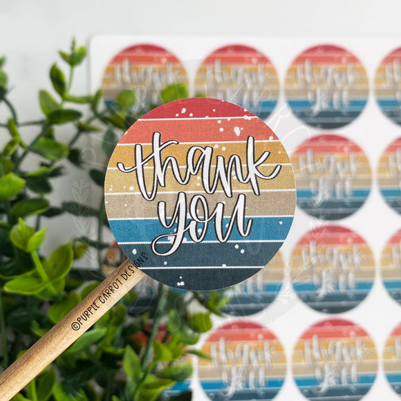 Thank You Vintage Sunset Sticker