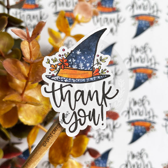 Thank You Witch Hat Sticker©