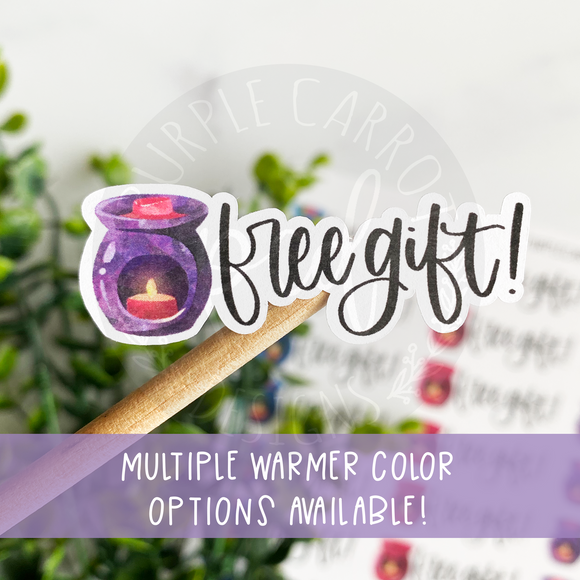 Wax Melt Warmer Free Gift Sticker