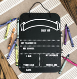 School Milestone Cut File, First Day of School, Last Day of School, School Sign, Chalkboard Sign