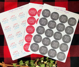 Christmas Round Sticker Bundle
