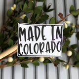 Made In State Sticker
