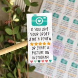 Instagram Review Sticker