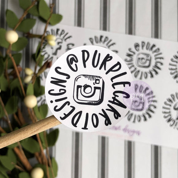 Instagram Sticker, Etsy Sticker, Small Shop Sticker, Small Business Sticker, Happy Mail Sticker, Etsy Supplies, Packaging Stickers