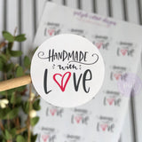 Handmade With Love Round Sticker